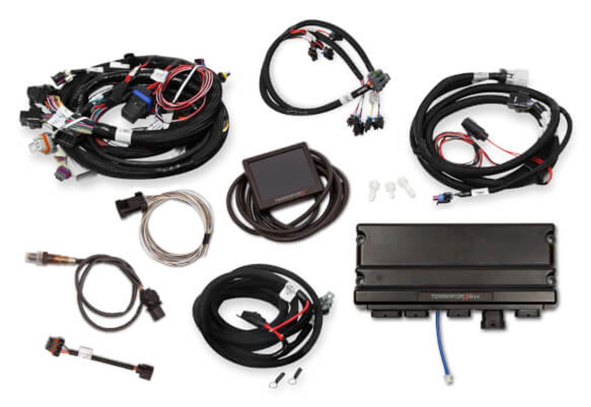 Holley EFI Terminator X MAX LS1 24X/1X MPFI Kit with Transmission  Controller #550-916