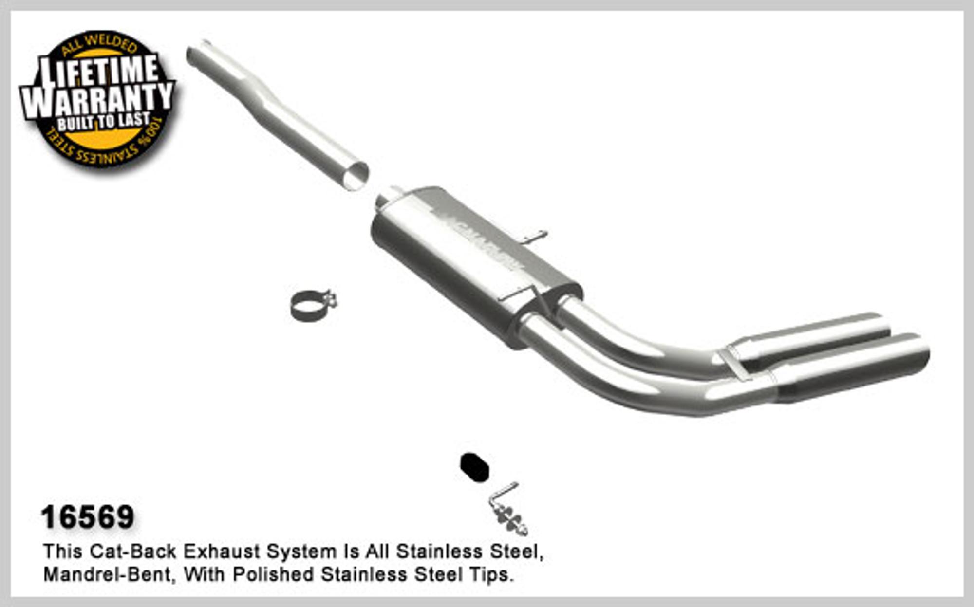 2002 Chevrolet Silverado 1500 5.3L Mandrel Bend Dual Exhaust Kit w// Magnaflow