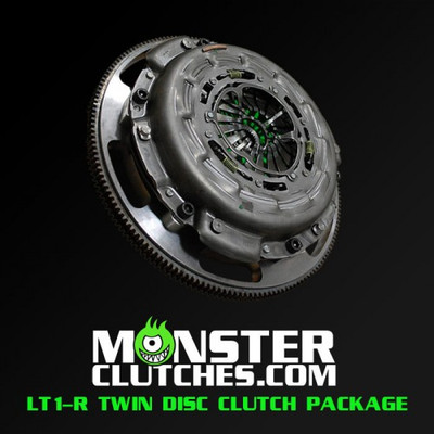 Monster LT1-R Twin Disc Clutch and Flywheel Package (Torque Capacity: 1100)