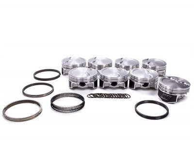 """Wiseco LS Standard Stroke Pistons with Rings, Nitrous/Turbo 2618 Alloy, 4.070"""" Bore, -11cc, Part #K444X7"""