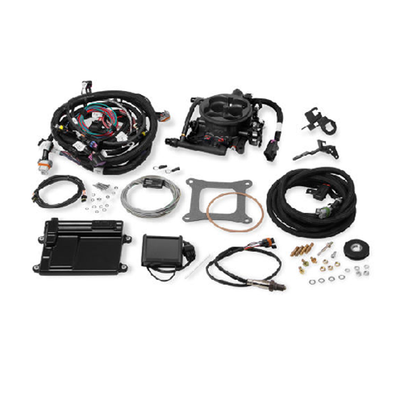 Holley Terminator Hardcore Gray LS TBI Kit, LS2, LS3 with 58x Reluctor, Part #550-424