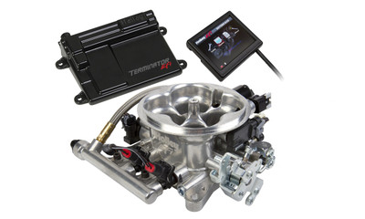 Holley Terminator Polished LS TBI Kit for LS1, LS6 with 24x Reluctor, Part #550-409