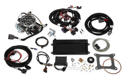 Holley Terminator Polished LS TBI Kit for LS1, LS6 with 24x Reluctor, with Transmission Control, Part #550-421