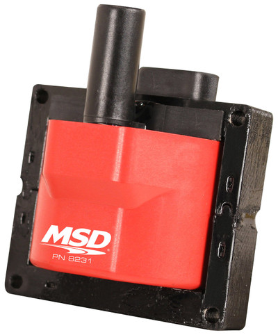 MSD Coil for Single Connector GM Applications, Fits in Factory Brackets, 1996-1997 LT1, Part #8231