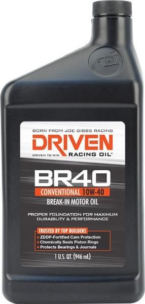 Joe Gibbs DRIVEN BR40 Break-In Motor Oil, 10W-40, Quart, Part #03706