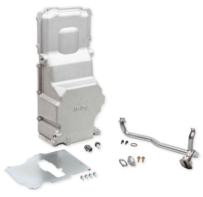 Holley GM LS Retro-fit Oil Pan, Additional Front Clearance, Part #302-3