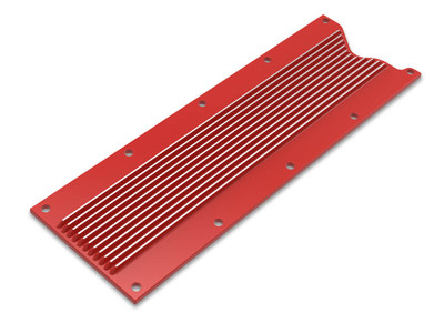Holley Valley Cover Finned for LS1/LS6, Gloss Red Finish, Part #241-259