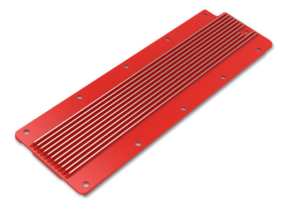 Holley Valley Cover Finned LS2/LS3/LS7/LSX, Gloss Red, Part #241-269