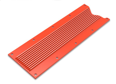 Holley Valley Cover Finned for LS1/LS6, Orange Finish, Part #241-270