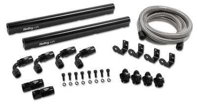Holley Billet LS7 Hi-Flow Fuel Rail Kit for Factory LS7 Intake with Tall Holley EFI Injectors, Part #534-233