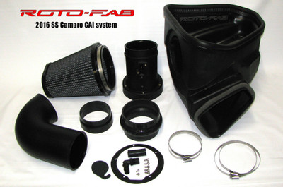 Roto-Fab Dry Filter Air Intake System with Sound Tube Delete for 2016-18 Camaro SS, Part #10161051
