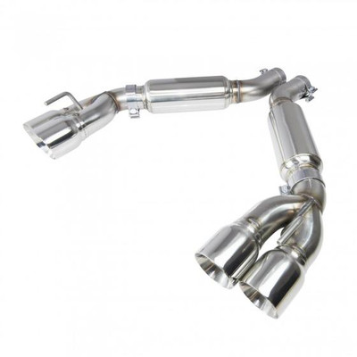 """Kooks OEM x 3"""" Axle Back Exhaust with Bullet Mufflers & Polished Quad Tips for 2016+ Camaro SS & ZL1 #22606250"""
