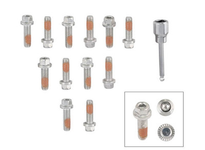 Mr. Gasket Headlock Locking Header Bolts for GM LS Engines #2235G