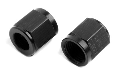 Earls AT Aluminum Adapters, Black Ano -6 Tube Nut, Part #AT581806ERL