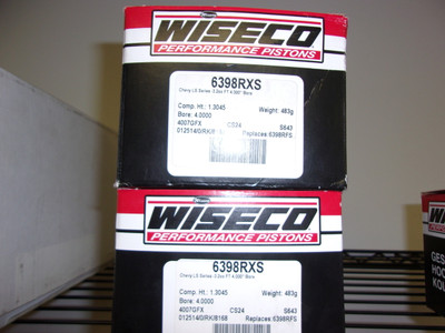 """Wiseco individual piston with rings PN:  6398RXS -3.2cc 4.000"""" bore stock stroke"""