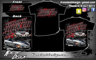 Tick Performance WIDOW MAKER Trans Am T-Shirt, Black