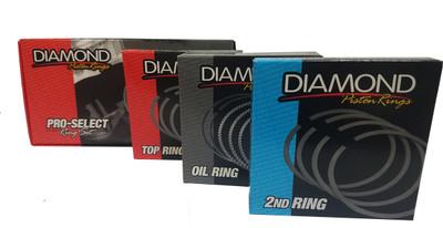 DIAMOND PRO SELECT PISTON RINGS 4.080 BORE, 1.5, 1.5, 3.0 PN: 09054080
