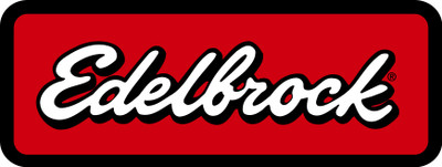 """Edelbrock Air Induction, Pro-Flo Chrome Round 14"""" Air Cleaner - 3"""" Pro-Flo Element (Blue), Part #43661"""