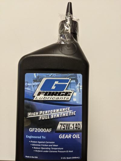 G-Force GF2000AF 75w140 Gear Oil