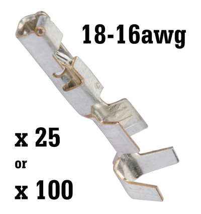 GT150 Female Terminals for 18-16awg