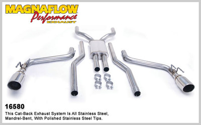 "Magnaflow 2.5"" Stainless Steel Competition Series Cat-Back for 2010+ Camaro SS V8 6.2L; Excl. Convertible"