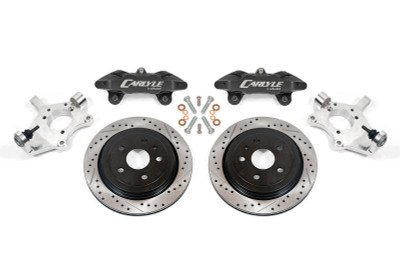 """15"""" Conversion Kit By Carlyle Racing, Drilled and Slotted Rotors, Black Calipers - C5 and C6 Corvette"""