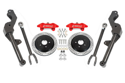 """15"""" Conversion Kit by Carlyle Racing, Drilled and Slotted Rotors, Red Calipers - G8 and Chevy SS"""