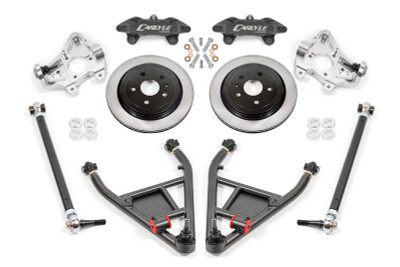 """15"""" Conversion Kit by Carlyle Racing, Solid Rotors, Black Calipers - C7 Corvette"""