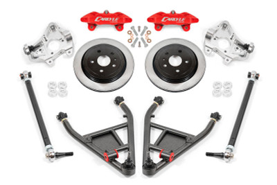 """15"""" Conversion Kit by Carlyle Racing, Solid Rotors, Red Calipers - C7 Corvette"""