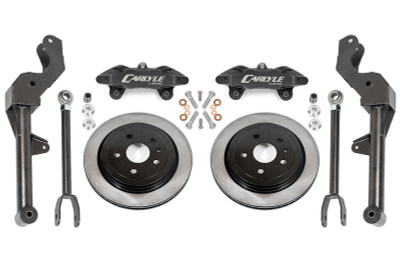 """15"""" Conversion Kit by Carlyle Racing, Solid Rotors, Black Calipers - 5th Gen Camaro"""