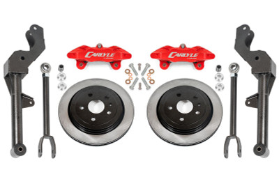 """15"""" Conversion Kit by Carlyle Racing, Solid Rotors, Red Calipers - 5th Gen Camaro"""