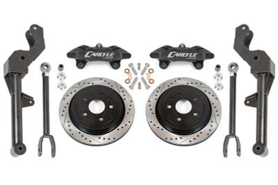 """15"""" Conversion Kit by Carlyle Racing, Drilled and Slotted Rotors, Black Calipers - 5th Gen Camaro"""