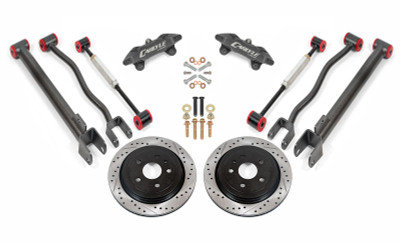 """15"""" Conversion Kit by Carlyle Racing, Drilled and Slotted Rotors, Black Calipers- 2nd Gen CTS-V"""