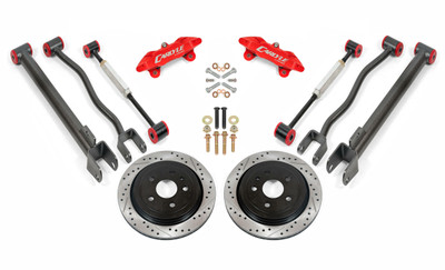 """15"""" Conversion Kit by Carlyle Racing, Drilled and Slotted Rotors, Red Calipers - 2nd Gen CTS-V"""