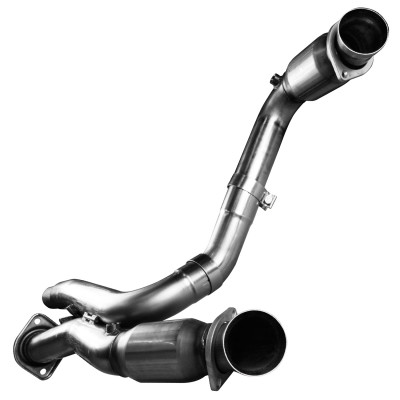 "Kooks 3"" x OEM Catted Dual Connection Pipes for 2001-2006 6.0 Silverado SS, Cadillac Escalade, & GMC Denali #28523200"