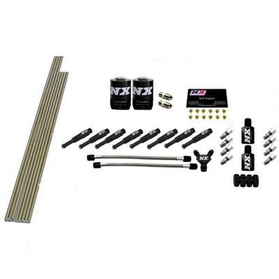 Nitrous Express 8-Cyl 1/8 Dry Nozzle Intake Plumbing Kit (Incl. All Necessary Hardware) # 13382