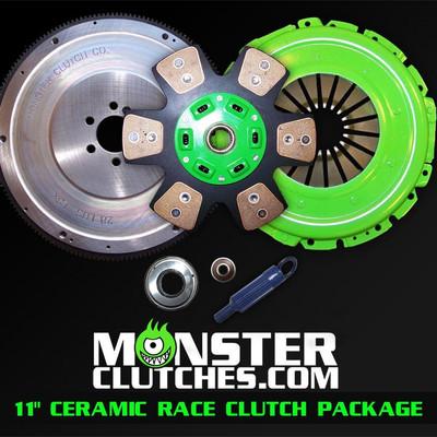 """Monster 11"""" Ceramic Race Clutch & Flywheel Package (torque capacity: 850)"""