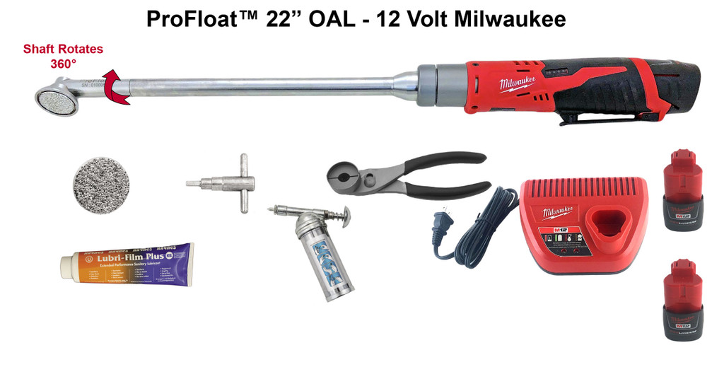 "19"" ProFloat 12 Volt Milwaukee Float Kit - #95220"