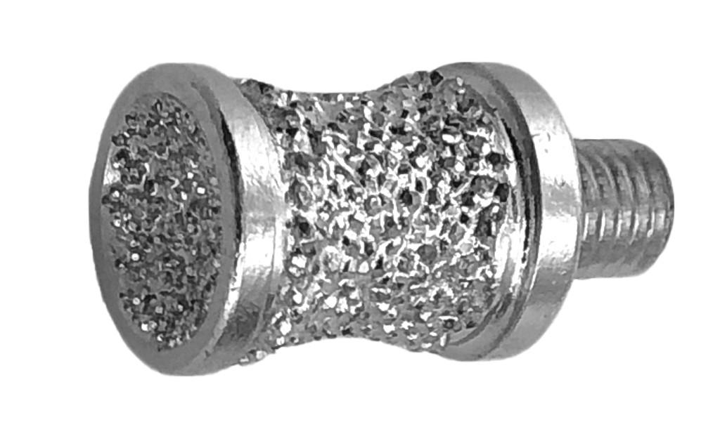 "1/2"" Brazed Diamond Canine/Apple Combination Burr 1/4-28 Thread"