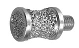 "1/2"" Brazed Diamond Canine/Apple Combination Burr 1/4-28 Thread"