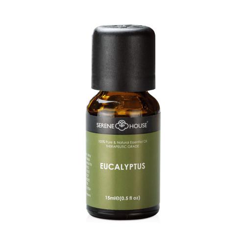 15ml bottle of Eucalyptus essential oil.