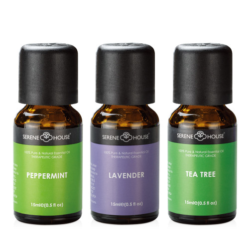 15ml Apothecary Collection, One bottle of Peppermint, Tea Tree, and Lavender