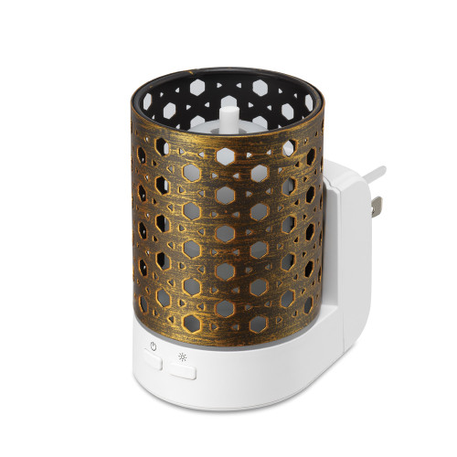 Basket Brown Metal Essential Oil Wall Plug Aroma Fan Diffuser