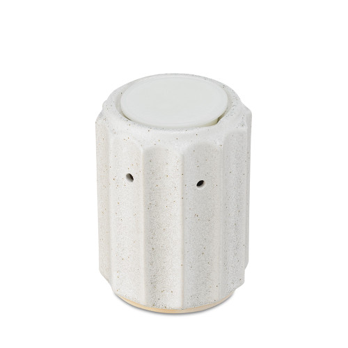 Pillar White Ceramic No Spill Wax Melt Warmer