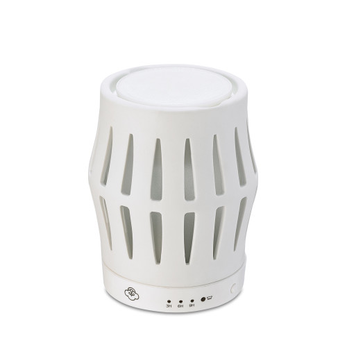 Barrel White Ceramic No Spill Wax Melt Warmer with Timer