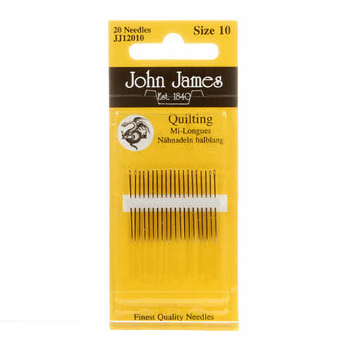 John James JJ12010, size 10 quilting needles