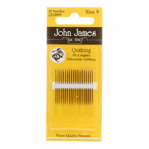 John James Sewing Needles, Quilting  Size 9