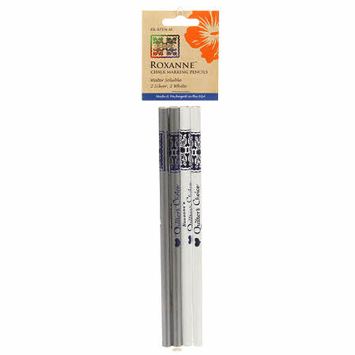 Roxanne  Chalk Marking Pencils Silver & White
