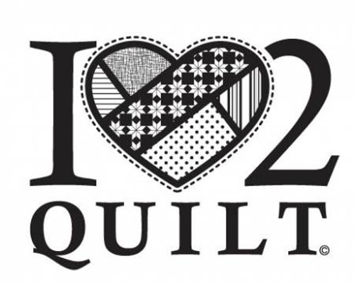 I  Heart to Quilt - Window Decal