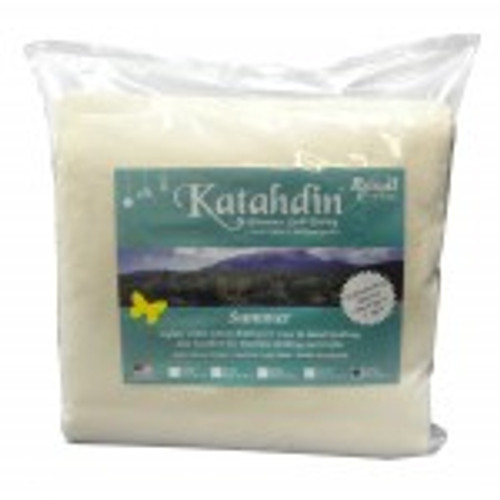 Katahdin Premium Batting - 100% Cotton Summer Weight, Queen